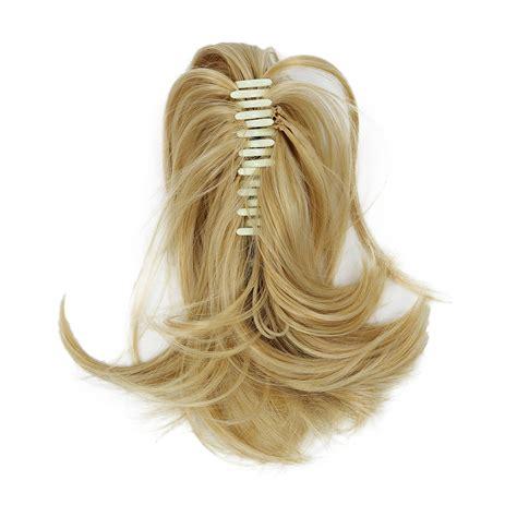 18cf Short Ponytail Hair Extensions Synthetic Hair Wavy