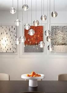 Pendelleuchten Esstisch Design : esstisch gruppe kleine glas kugel pendelleuchten ~ Michelbontemps.com Haus und Dekorationen