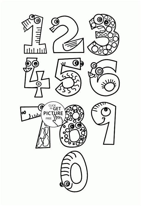 numbers coloring pages numbers coloring pages for counting numbers