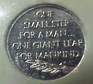 """Platinum Apollo 11 Franklin """" Mini - Coin"""