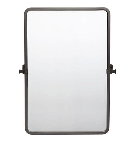 Rectangle Bathroom Mirrors by Bingham Pivoting Rounded Rectangle Mirror Small