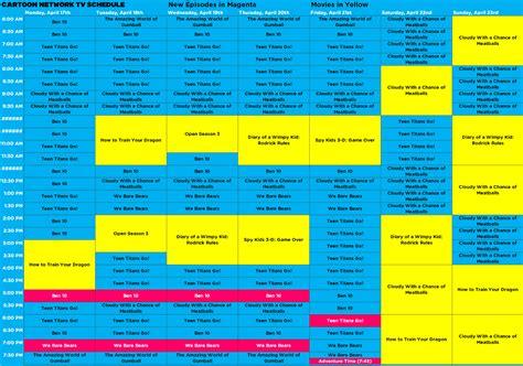 Cartoon Network Schedule Usa