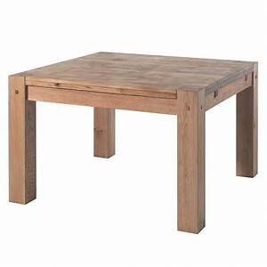 Table Carree Chene : table carr e l 120 cm s jour lodge casita en bois koh deco ~ Teatrodelosmanantiales.com Idées de Décoration