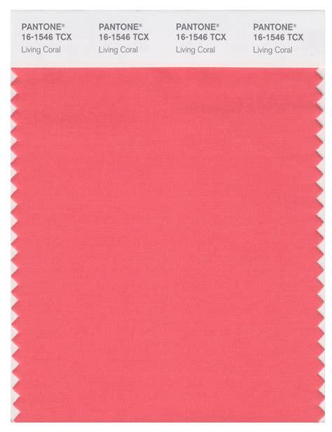 pantone smart   tcx color swatch card living coral