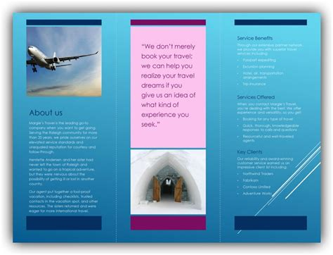 tri fold brochure templates excel word templates
