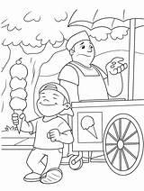 Ice Cream Coloring Vendor Crayola Excitement sketch template