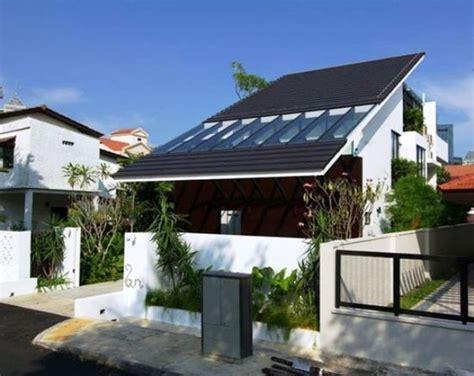 rumah minimalis mungil atap miring gambar desain model