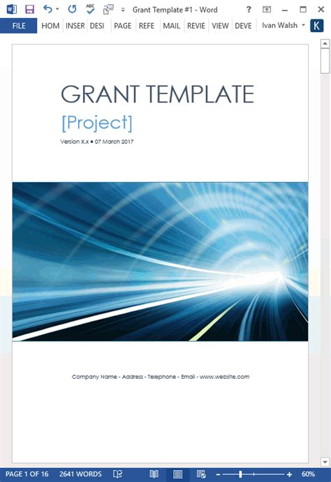 grant proposal template  software templates