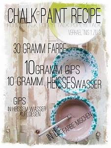 Shabby Chic Herstellen : deutsches rezept f r chalk paint gips chalk paint pinterest homemade chalk paint ~ Indierocktalk.com Haus und Dekorationen