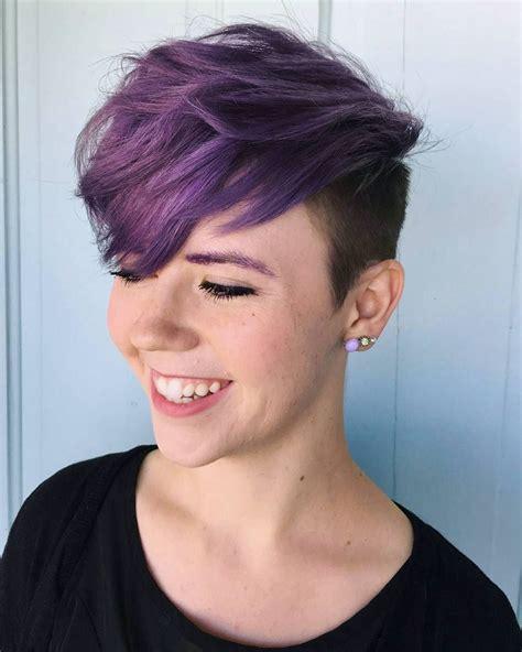 35 Brilliant Short Purple Hair Ideas — Too Stunning To