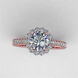 Beautiful wedding rings for women rose gold real diamond for Wedding engagement rings for women