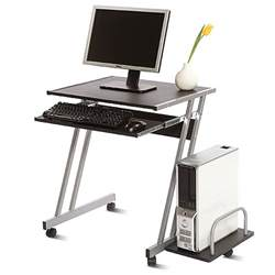 cambridge mobile computer cart black and silver walmart com