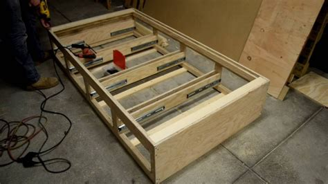 twin bed  drawers  diy  chris