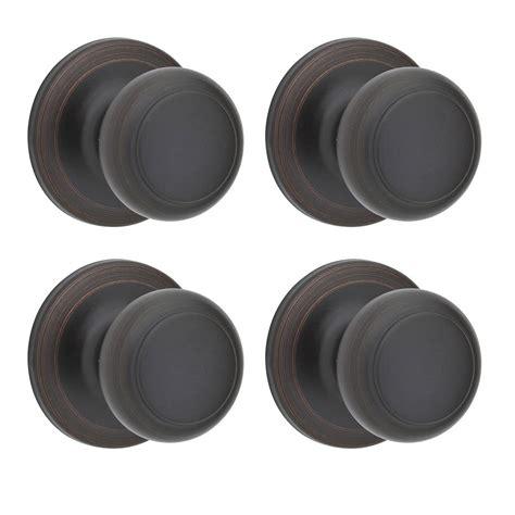 kwikset cove venetian bronze closet knob 4 pack