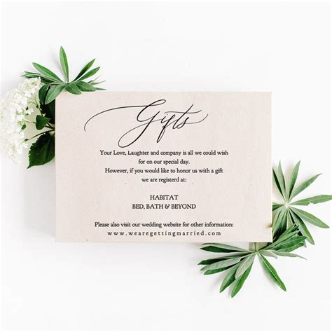 Kitchen Kaboodle Gift Registry by Wedding Gift Registry Wording Ideas How To Ask For Gifts