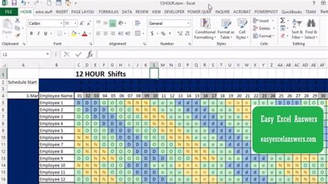 automatic  hour shift schedule youtube