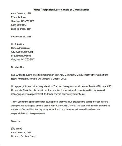 two weeks notice letter resignation letter 2 week notice gplusnick 23284