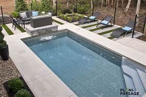 piscine creusee rectangulaire avec paysagement With amenagement paysager avec piscine creusee