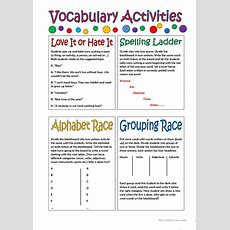 Vocabulary Activities Worksheet  Free Esl Printable Worksheets Made By Teachers