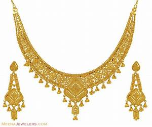 Necklace Set (22k Gold) - StGo8315 - 22K Yellow Gold ...
