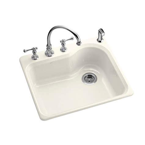 22 x 25 kitchen sink kohler meadowland self 25 in x 22 in single bowl 7297