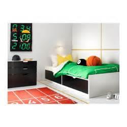 flaxa bed frame w storage slatted bedbase white 90x200 cm