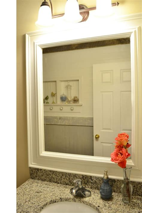 How To Put A Frame Around A Bathroom Mirror by Trim Around Mirrors Deck Out My Home What You Can Do