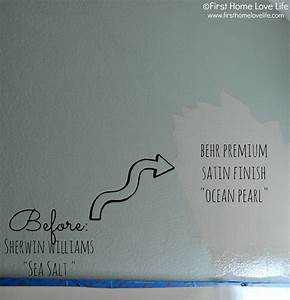 Greige Bathroom Paint - First Home Love Life