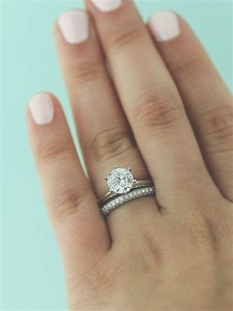 wedding ring and wedding band traditional solitaire engagement ring wedding ideas