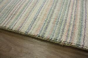 Teppich Läufer Beige : teppich l ufer br cke 60x120 cm 100 wolle beige streifen ebay ~ Orissabook.com Haus und Dekorationen