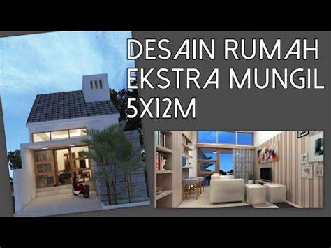desain rumah  lantai ekstra mungil xm kode  youtube