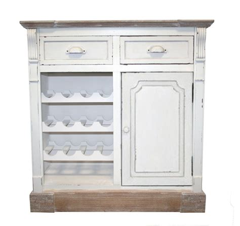 Wine Cupboard Furniture by White Shabby Chic Vintage Style 2 Drawer Cupboard