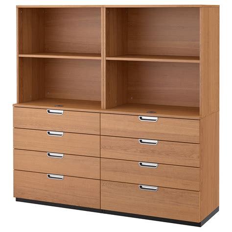 ikea shelf with drawers galant storage combination with drawers oak veneer 160x160