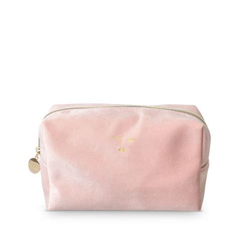 pink velvet cosmetic bag oliver bonas