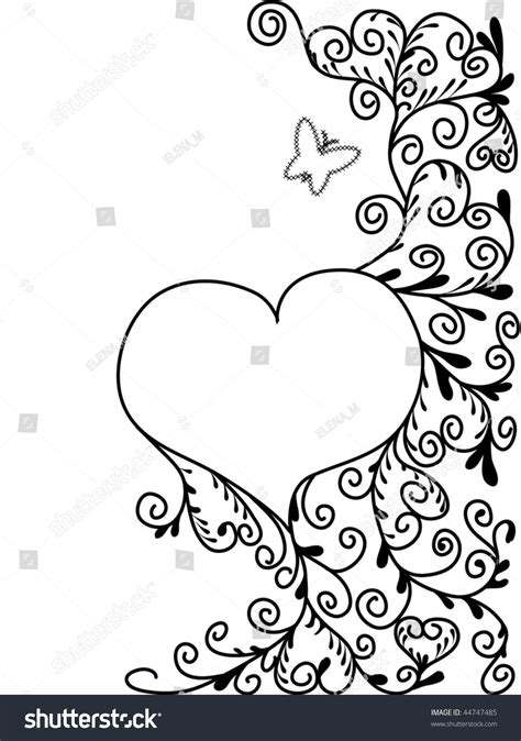 black white abstract picture st valentines stock vector