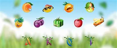 Fruit Slot Machine Cocktail Fruits Animated Graphic