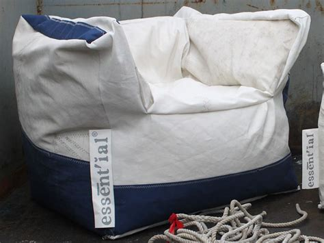Design Armchair Made Of Reuse Sails