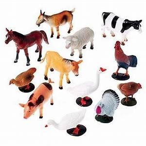 US Toy Company Farm Animals, 12 Piece, 2386, Plastic ...