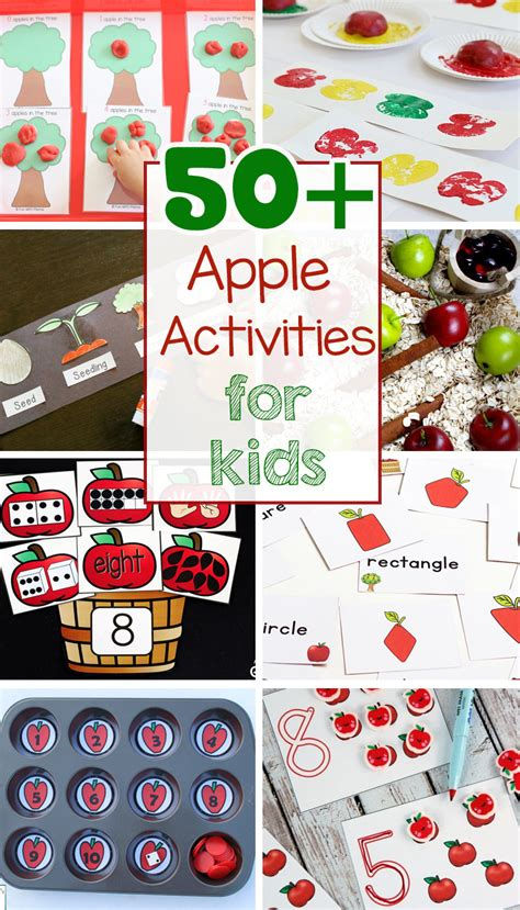 50 apple activities for preschoolers kindergarten 315 | apple activites crafts for preschoolers