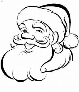 Merry Christmas Santa Coloring Page Coloring Point