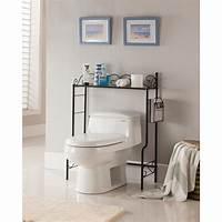 over toilet storage Kings Brand Furniture Black Freestanding Etagere Bathroom ...