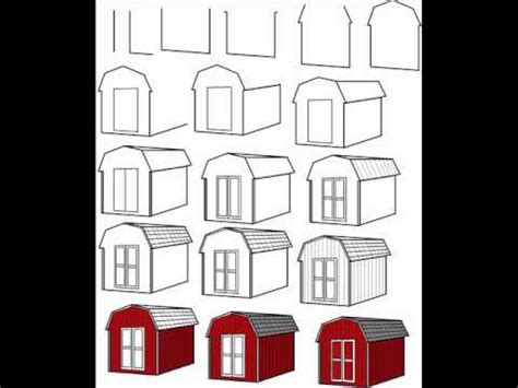 How To Draw A Barn by How To Draw A Simple Barn Step By Step Drawing