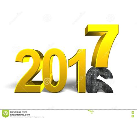 2016 To 2017 Happy New Year Concept Stock Illustration