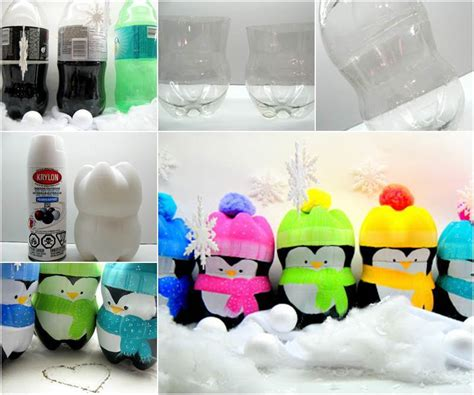 creative ideas diy cute penguins  plastic bottles