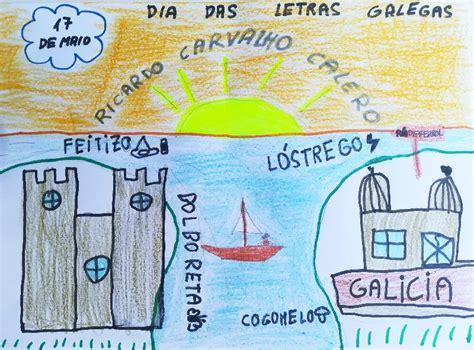 Debuxa celebrando o Día das Letras Galegas O Porriño é