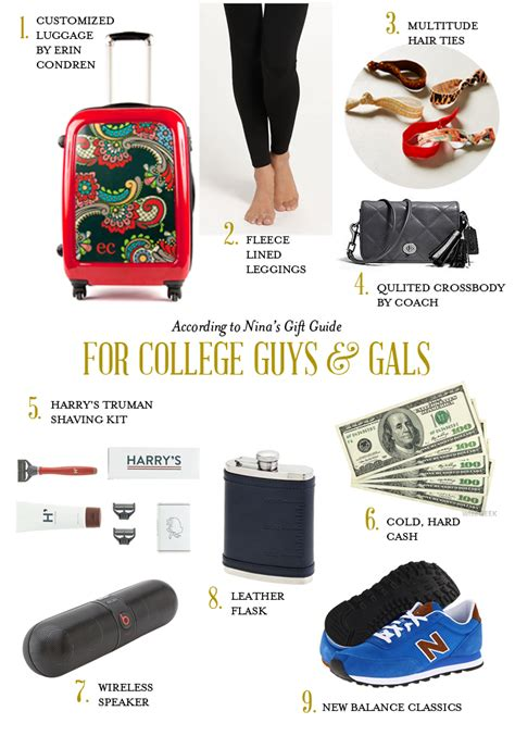 holiday gift guide college students according to nina