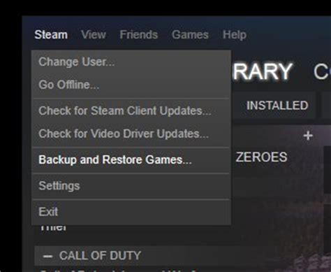 How To Back Up And Restore Your Steam Games