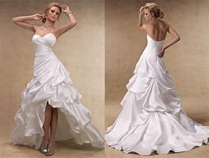 Robe De Mariée Moderne : robe de mariee moderne froisse courte devant longue ~ Melissatoandfro.com Idées de Décoration