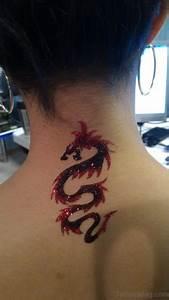 29 Fantastic Dragon Neck Tattoos