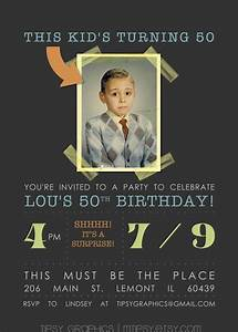 Invitation idea for Dad's 60th - printable featuring him ...